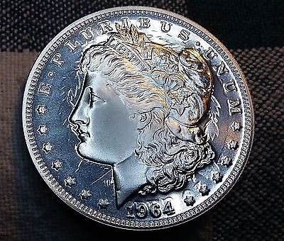Daniel Carr 1964-D PROOF CLASHED Die High-Grade Morgan Silver Dollar Overstrike