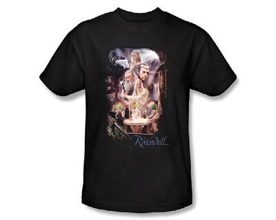 The Hobbit Movie, Rivendell Elven Outpost 2X T-Shirt, Lord of the Rings, NEW