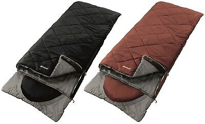Outwell Contour Single 2-3 Season Camping Hiking Envelope Sleeping Bag