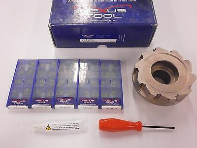 """NEXUS Tool 4"""" APKT 11T308 Indexable Face Mill Carbide Inserts PVD 202 KIT 980SO"""
