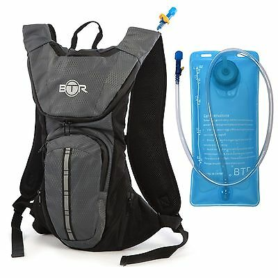 BTR Premium Hydration Pack Backpack 2L Water Bladder Reservoir Cycling Hiking