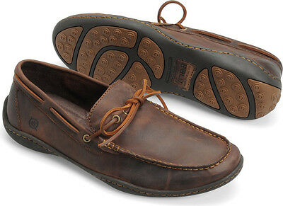 New Born Abraham Driving Loafers Brown Leather Mens