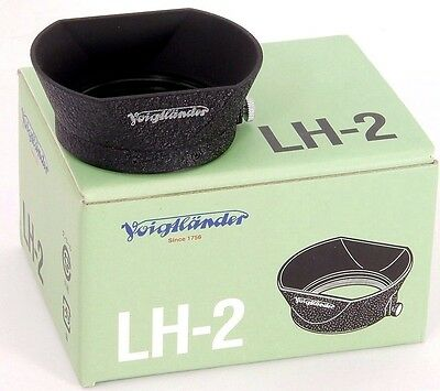 Voigtlander LH-2 Lens Hood for Wide-Angle 35mm & Standard 50mm Lenses Mint!!
