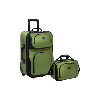 Traveler's Choice Rio 2-Piece Lightweight Carry-On Luggage Set NEW