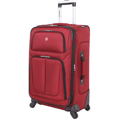 "SwissGear Travel Gear 6283 25"" Spinner Luggage 6 Colors Softside Checked NEW"