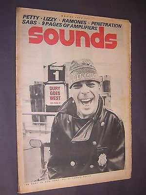 SOUNDS. May 27th 1978. MUSIC MAGAZINE. IAN DURY. PETTY. RAMONES. PENETRATION