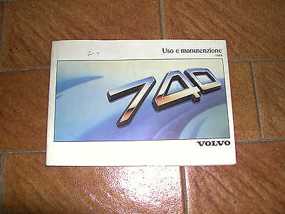 Volvo 740 1988 sedan & station wagon  manuale uso  owner manual
