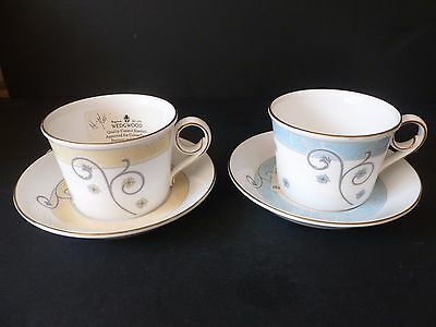 Wedgwood * TIME FOR WEDGWOOD * SAMPLES * Cup & Saucer * NEW & UNUSED * PAIR