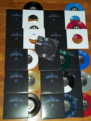"""SLAYER - When the stillness comes - FULL COLOURS SET - 14 x 7"""" EP + 1 Picture 7"""""""