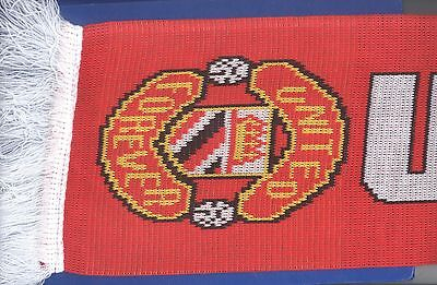 Manchester United Ajax Amsterdam Europa League Final 2017 knitted JACQUARD SCARF