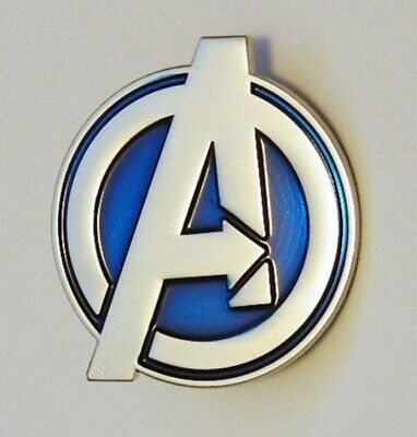 Marvel Comics The Avengers Large A Logo Metal Enamel Lapel Pin, NEW UNUSED