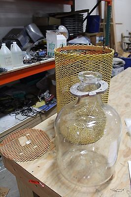 Pyrex Glass Carboy 5 gallon WITH STEEL CAGE