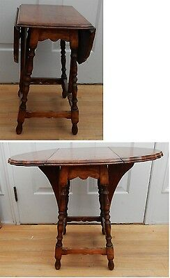 Vintage Walnut Drop Leaf Butterfly Side End Table #2of3