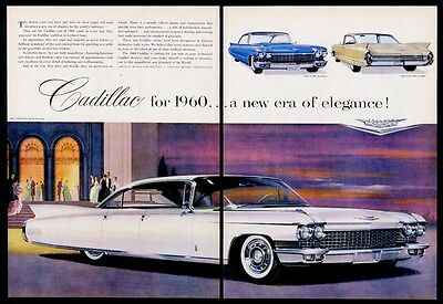 1960 Cadillac Fleetwood Sixty Special Coupe deVille 62 Coupe vintage print ad