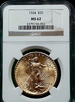 1924 St Gaudens Gold coin in NGC MS62