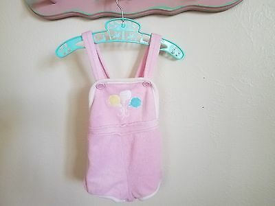 Vintage terry cloth sunsuit, girls toddler romper