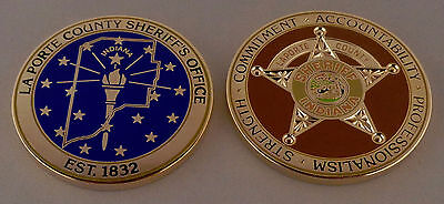 LAPROTE COUNTY SHERIFF'S Office CHALLENGE COIN Indiana IN police