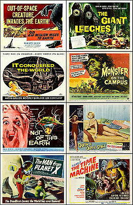 SPECIAL LOT Of 8 Individual SCI-FI 11x14 TITLE CARD And HS Prints Lot E