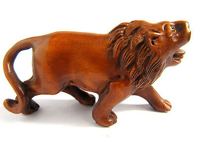 Y2424 - 2'' Nice Quanlity Hand Carved Boxwood Netsuke: Lion King