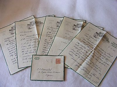 Vintage Ephemera Guest House Letters Gwendra Marine Drive Falmouth Cornwall 1934