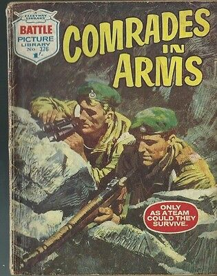 Comrades In Arms,battle Picture Library,no.376,war Comic,1968