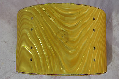 "1960's GRETSCH 6-PLY YELLOW SATIN FLAME 12"" TOM SHELL for YOUR DRUM SET! #T877"
