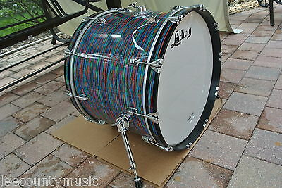 "RARE 2009 LUDWIG USA 22"" PSYCHEDELIC RED CLASSIC BASS for your DRUM SET! #J669"