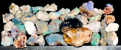 100 Cts #668 Opal Rough And Rough Rubs From Lightning Ridge