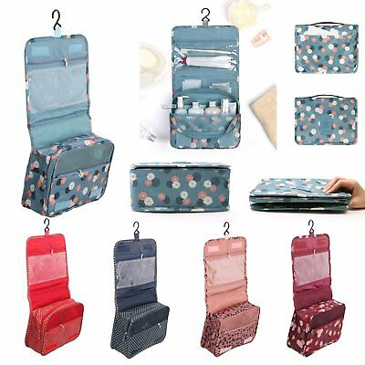 Expandable Travel Hanging Wash Bag Toiletry Organizer Ladies Make Up Pouch UK