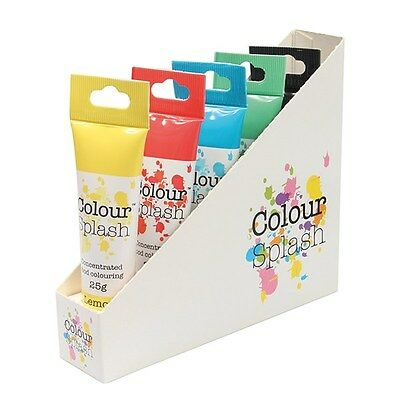 Colour Splash Concentrated food colouring red blue yellow green black Primary