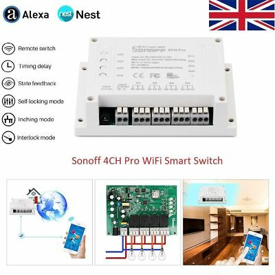 Sonoff 1/4CH ITEAD 1/4 Channel Din Rail Mounting WiFI Switch Smart Home Switch
