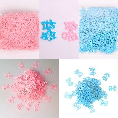 Its a Boy/Girl Baby Shower Party Confetti Table Scatter Tableware Blue/Pink