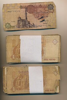 Egypt Lower Grade Lot Of Notes - 160 Notes -  1 Piastres