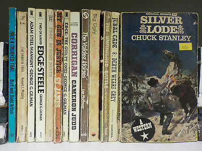 Various Vintage Western Paperbacks - 13 Books Collection! (ID:47178)