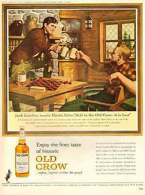 1963 vintage ad for Old CRow Whiskey -298