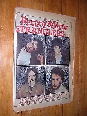 RECORD MIRROR. OCTOBER 8th 1977. MUSIC MAGAZINE. STRANGLERS COVER