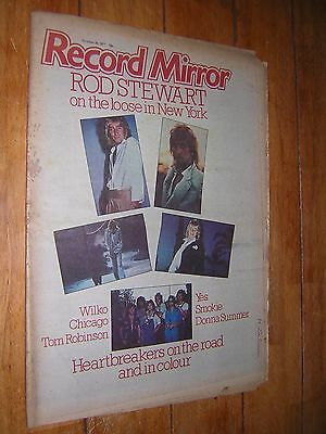 RECORD MIRROR. OCTOBER 29th 1977. MUSIC MAGAZINE. HEARTBREAKERS. DONNA SUMMER