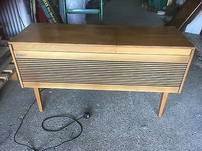 Vintage Retro Portadyne Radiogram Radio Record Player 1971 Wooden Drinks Cabinet