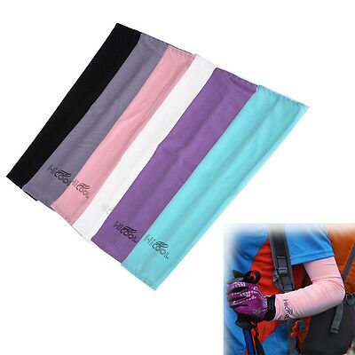 1 Pair Cooling Arm Sleeves Cover UV Sun Protection Breathe For Climbing Sports