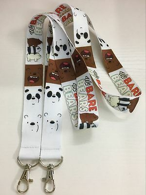 We Bare Bears Lanyard Cartoon Neck Strap - Flash Drive ID Card KeyChain Camera *