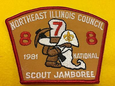 Boy Scouts-  1981 National Jamboree - Northeast Illinois Council - Troop 878 csp