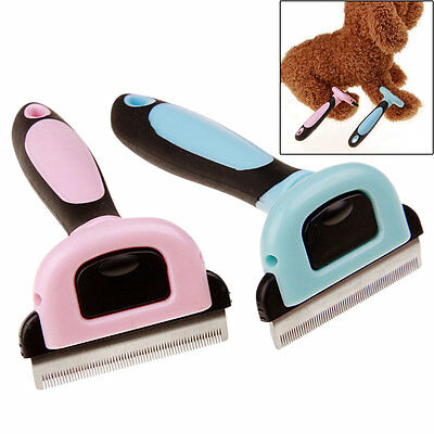 Pet Grooming Brush Comb Shedding Rake Trimming Tool for Dog Cat Hair Fur Removal