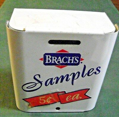 Vintage Metal Box That Says Brach's Samples 5 Cents Each