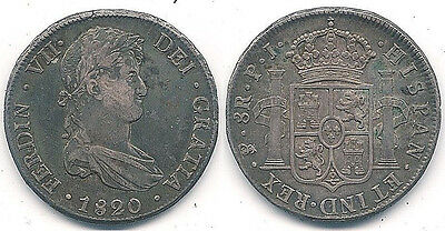 1820 Bolivia 8 Reals Silver Coin in a Sharp Extra Fine Condition~