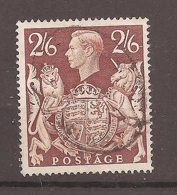 "1939 2/6 Brown LISTED FLAW VARIETY ""GASHED CROWN"" SG 476ac Q29c fine used w9479"