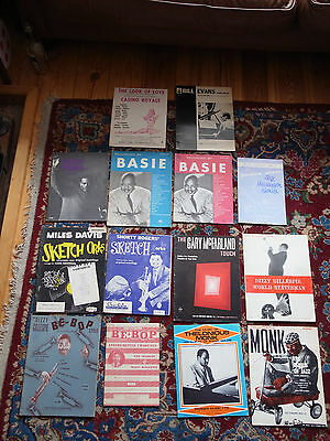 Jazz sheet music book lot.Miles Davis Thelonious Monk Quincy Jones Shorty Rogers