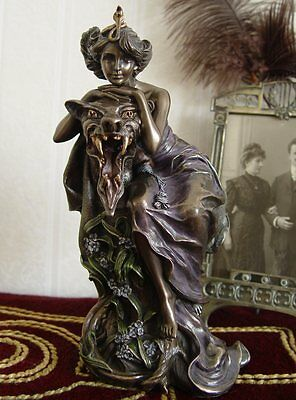 Beauty and the Beast Sculpture in the Art Nouveau Mucha