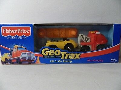 Fisher price Geo Trax Geotrax Lift 'n Go Towing from 2003 New!