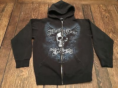 MOTLEY CRUE Saints Of Los Angeles mens S small zip up hooded sweatshirt Hoodie !