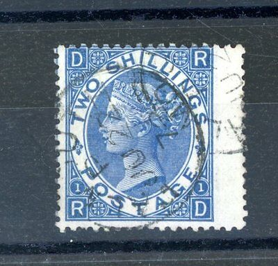 Great Britain Victoria  2s Blue  SG 118  c.d.s.  very fine used  (J369)
